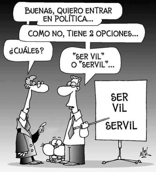 Quiero entrar en política...